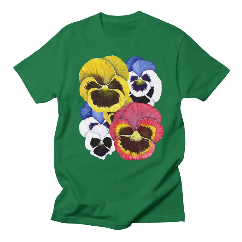 Pansies Women's Regular Unisex T-Shirt by Kris Efe's Artist Shop