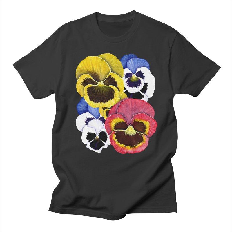Pansies Women's Unisex T-Shirt by Kris Efe's Artist Shop