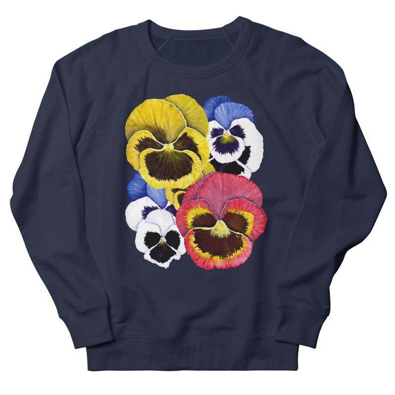 Pansies Women's Sweatshirt by Kris Efe's Artist Shop