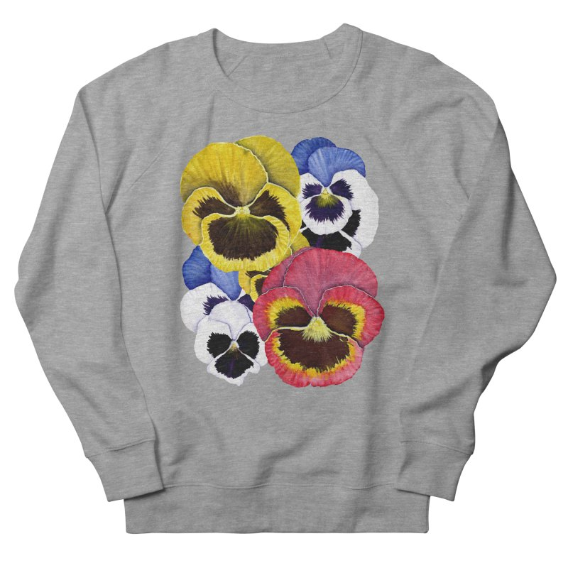 Pansies Men's French Terry Sweatshirt by Kris Efe's Artist Shop