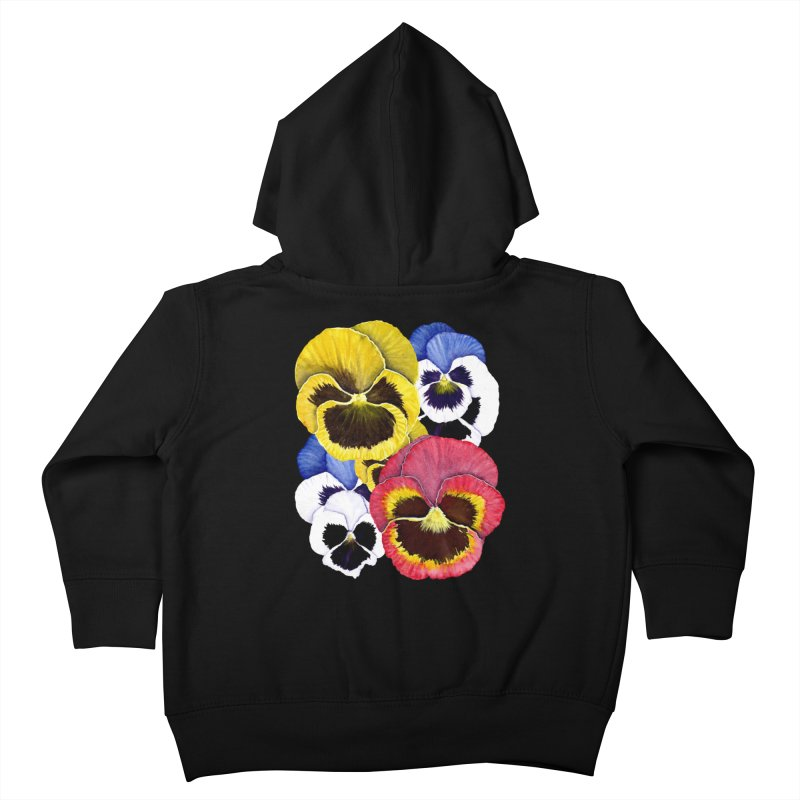 Pansies Kids Toddler Zip-Up Hoody by Kris Efe's Artist Shop