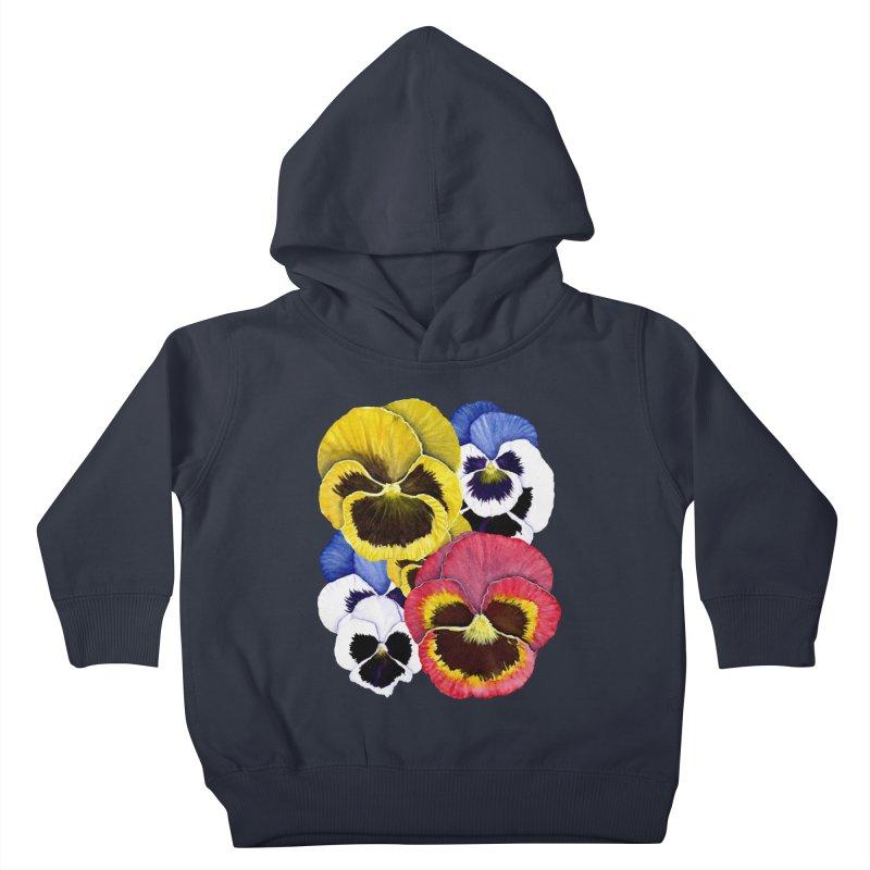 Pansies Kids Toddler Pullover Hoody by Kris Efe's Artist Shop