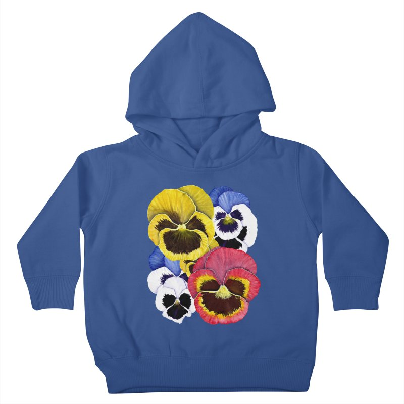 Pansies Kids Toddler Pullover Hoody by Kris Efe's Artist Shop