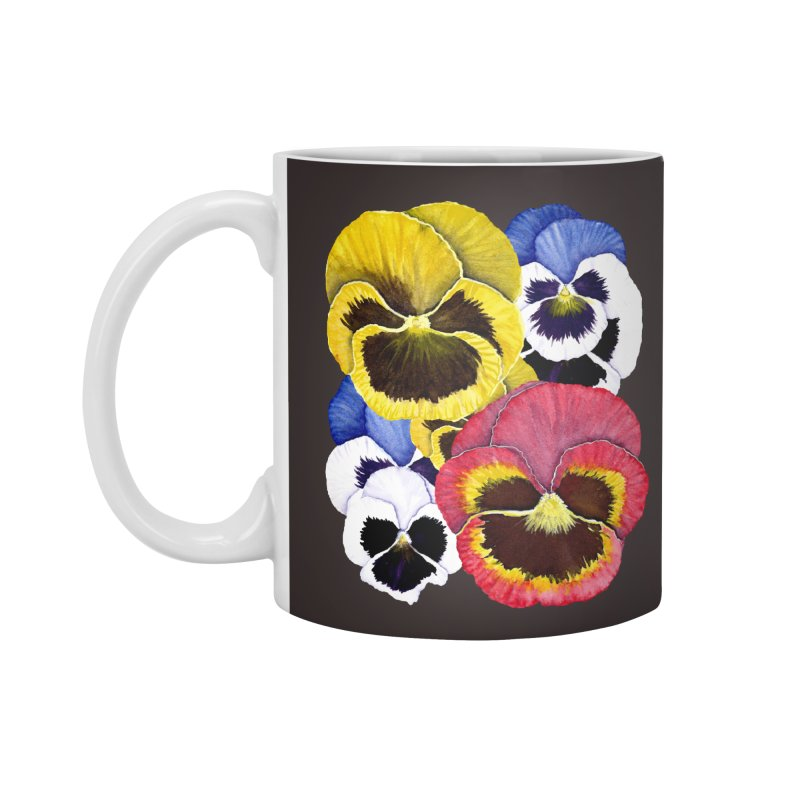Pansies Accessories Standard Mug by Kris Efe's Artist Shop