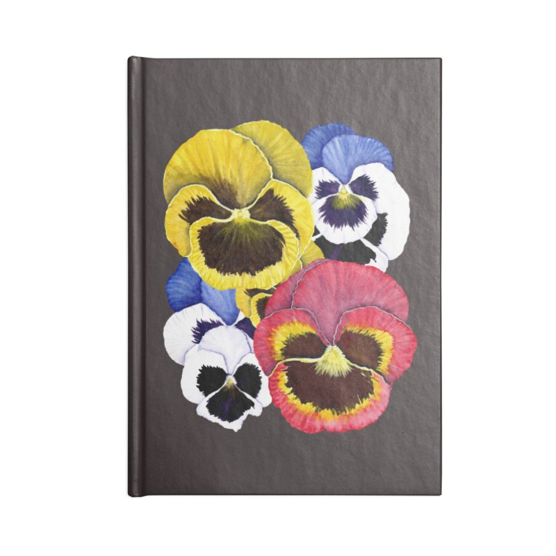 Pansies Accessories Lined Journal Notebook by Kris Efe's Artist Shop