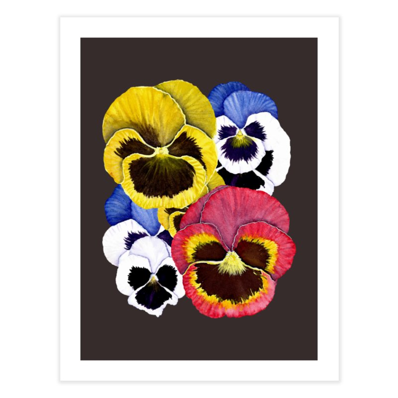 Pansies Home Fine Art Print by Kris Efe's Artist Shop