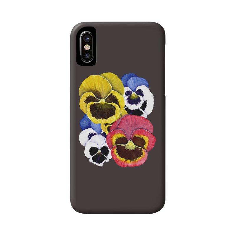 Pansies Accessories Phone Case by Kris Efe's Artist Shop