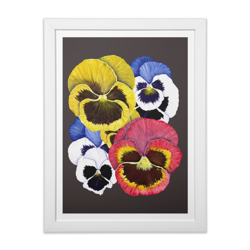 Pansies Home Framed Fine Art Print by Kris Efe's Artist Shop