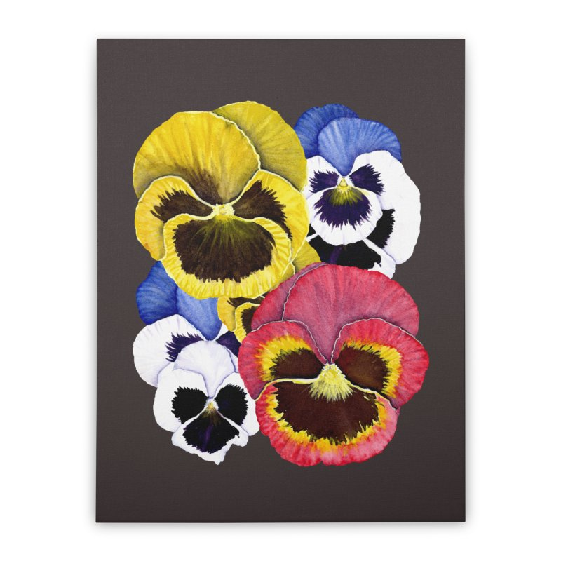 Pansies Home Stretched Canvas by Kris Efe's Artist Shop