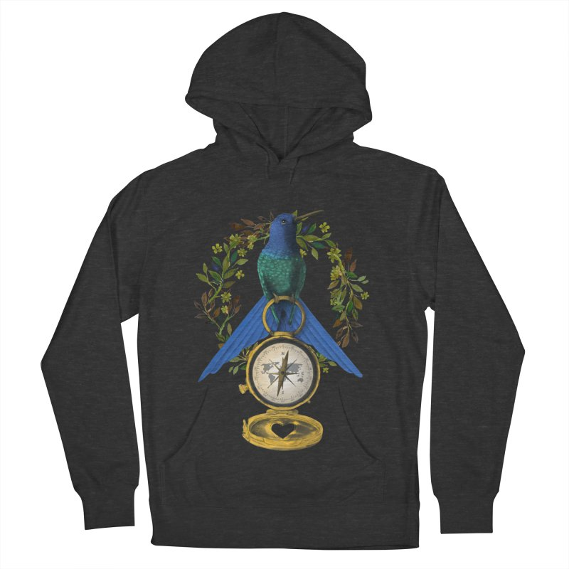 Home is where your heart is Women's French Terry Pullover Hoody by Kris Efe's Artist Shop