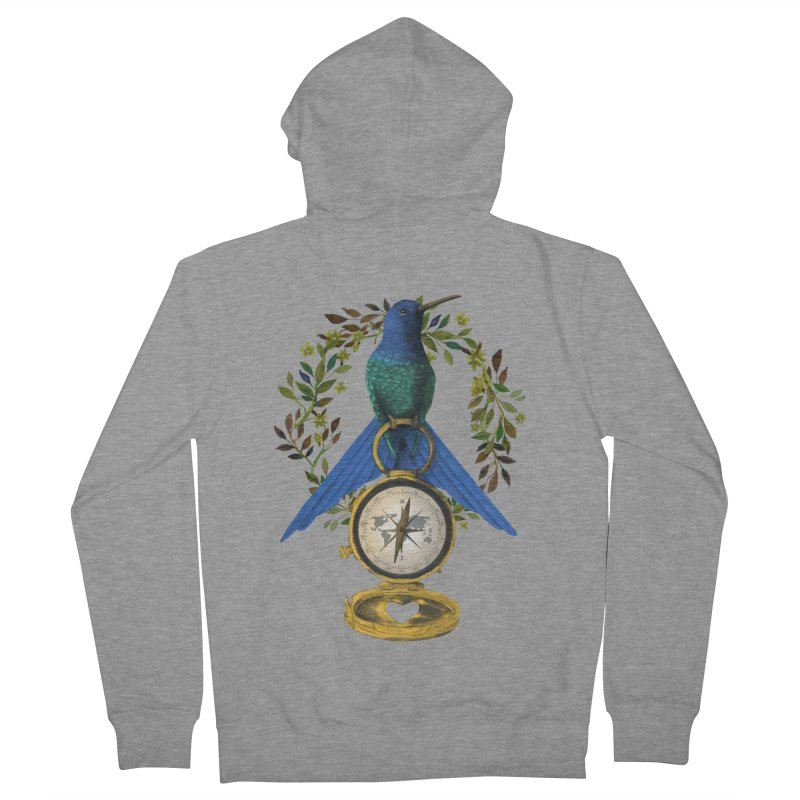 Home is where your heart is Women's French Terry Zip-Up Hoody by Kris Efe's Artist Shop
