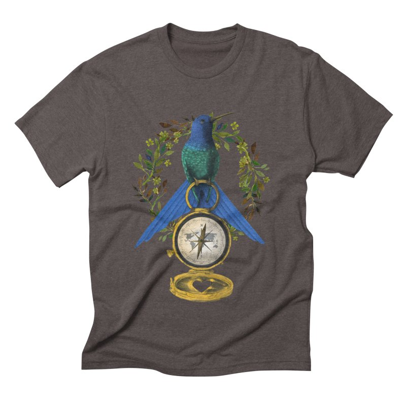 Home is where your heart is Men's Triblend T-Shirt by Kris Efe's Artist Shop
