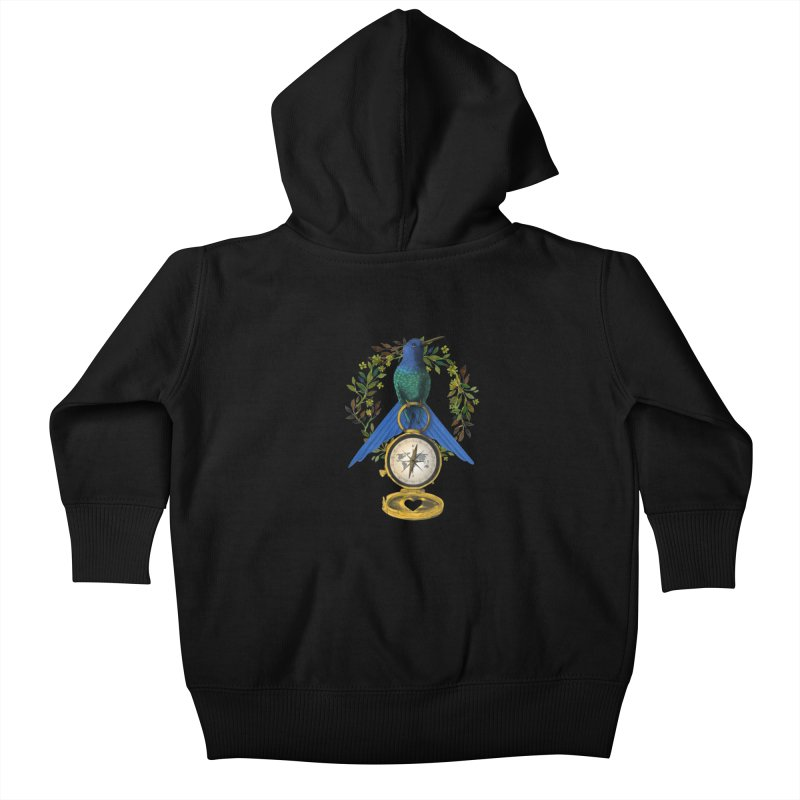 Home is where your heart is Kids Baby Zip-Up Hoody by Kris Efe's Artist Shop