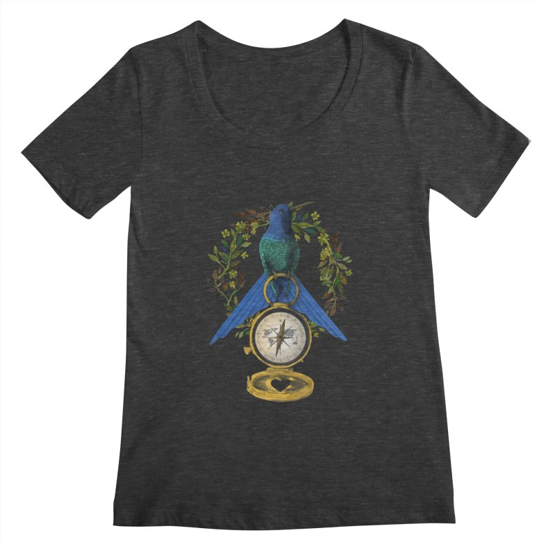 Home is where your heart is Women's Scoopneck by Kris Efe's Artist Shop