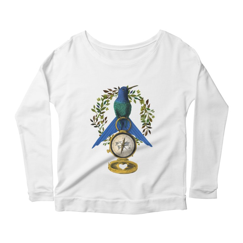 Home is where your heart is Women's Scoop Neck Longsleeve T-Shirt by Kris Efe's Artist Shop