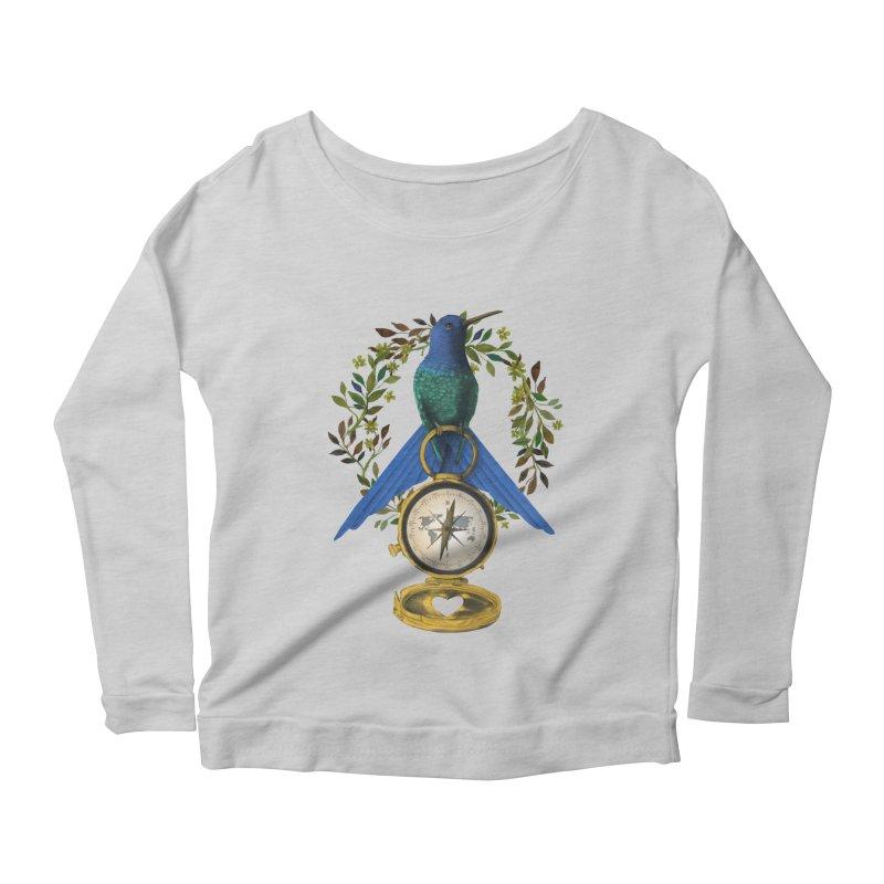 Home is where your heart is Women's Scoop Neck Longsleeve T-Shirt by Kris Efe's Artist Shop