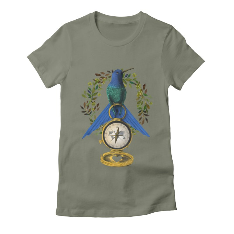 Home is where your heart is Women's Fitted T-Shirt by Kris Efe's Artist Shop
