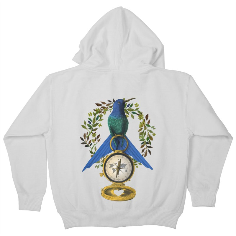 Home is where your heart is Kids Zip-Up Hoody by Kris Efe's Artist Shop