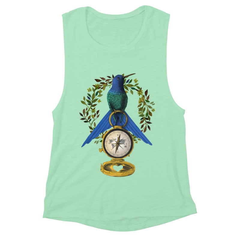 Home is where your heart is Women's Muscle Tank by Kris Efe's Artist Shop