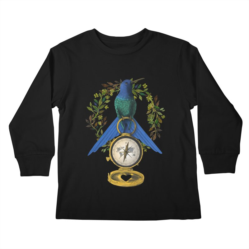 Home is where your heart is Kids Longsleeve T-Shirt by Kris Efe's Artist Shop