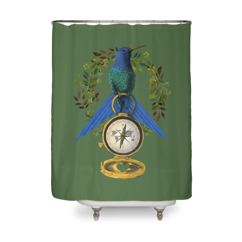 Home is where your heart is Home Shower Curtain by Kris Efe's Artist Shop