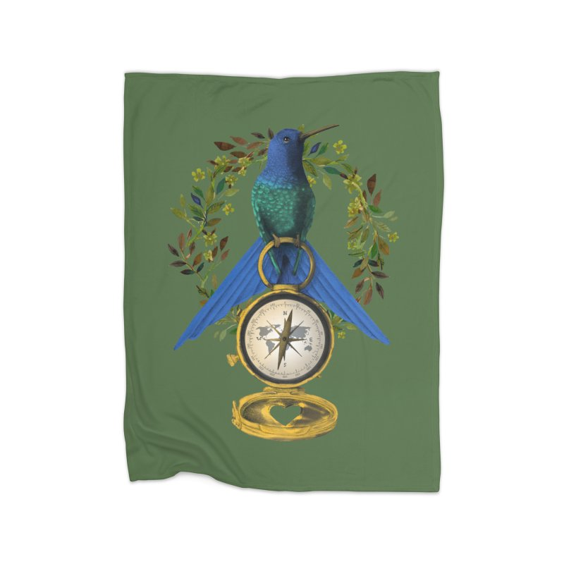 Home is where your heart is Home Fleece Blanket Blanket by Kris Efe's Artist Shop