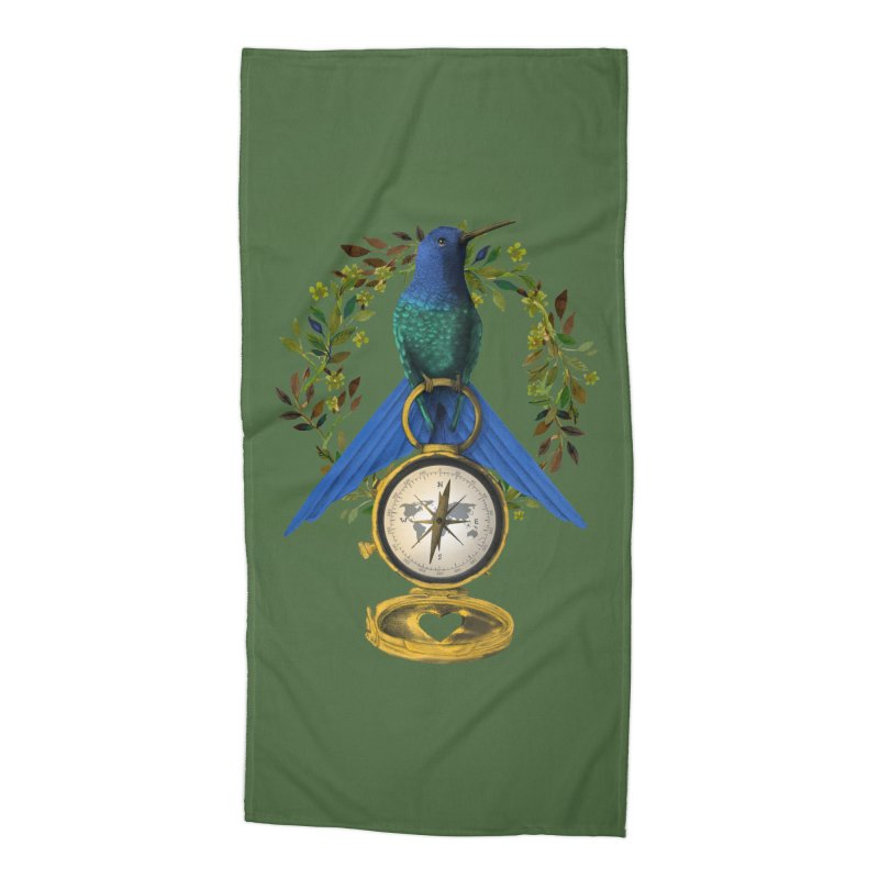 Home is where your heart is Accessories Beach Towel by Kris Efe's Artist Shop