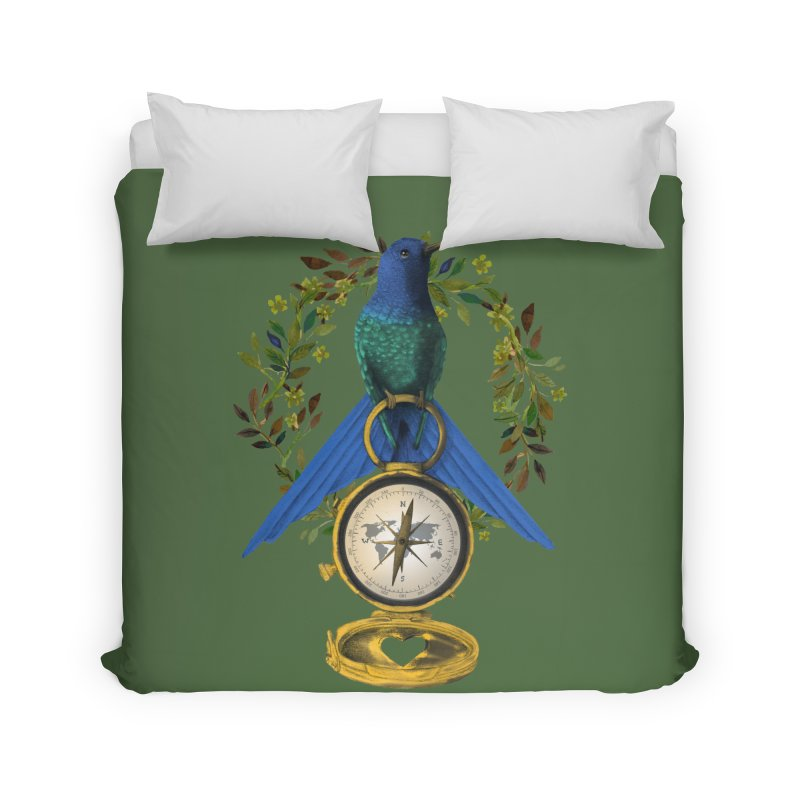 Home is where your heart is Home Duvet by Kris Efe's Artist Shop
