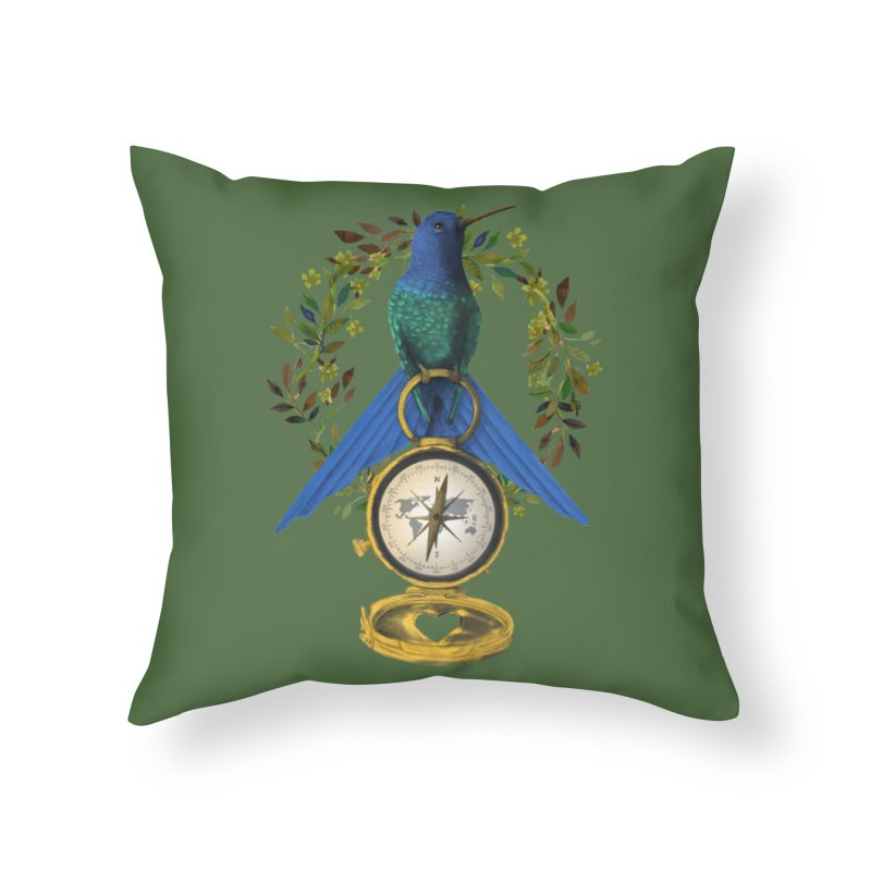 Home is where your heart is Home Throw Pillow by Kris Efe's Artist Shop