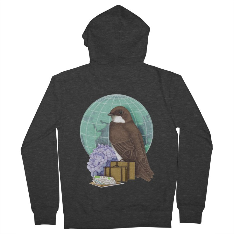 Little World Traveler Women's French Terry Zip-Up Hoody by Kris Efe's Artist Shop