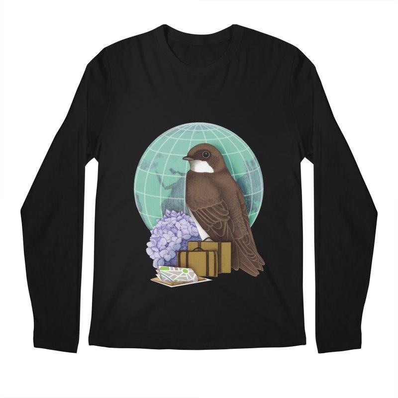 Little World Traveler Men's Regular Longsleeve T-Shirt by Kris Efe's Artist Shop