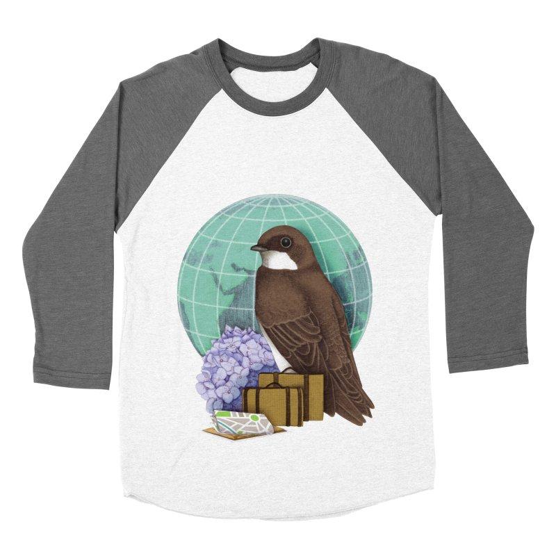 Little World Traveler Women's Baseball Triblend T-Shirt by Kris Efe's Artist Shop