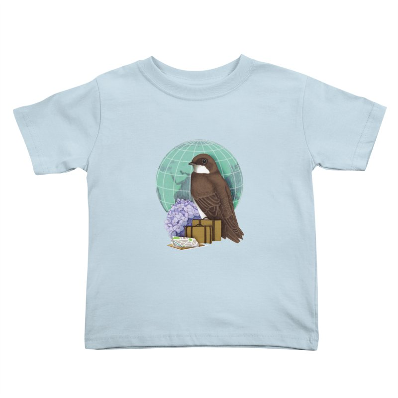 Little World Traveler Kids Toddler T-Shirt by Kris Efe's Artist Shop