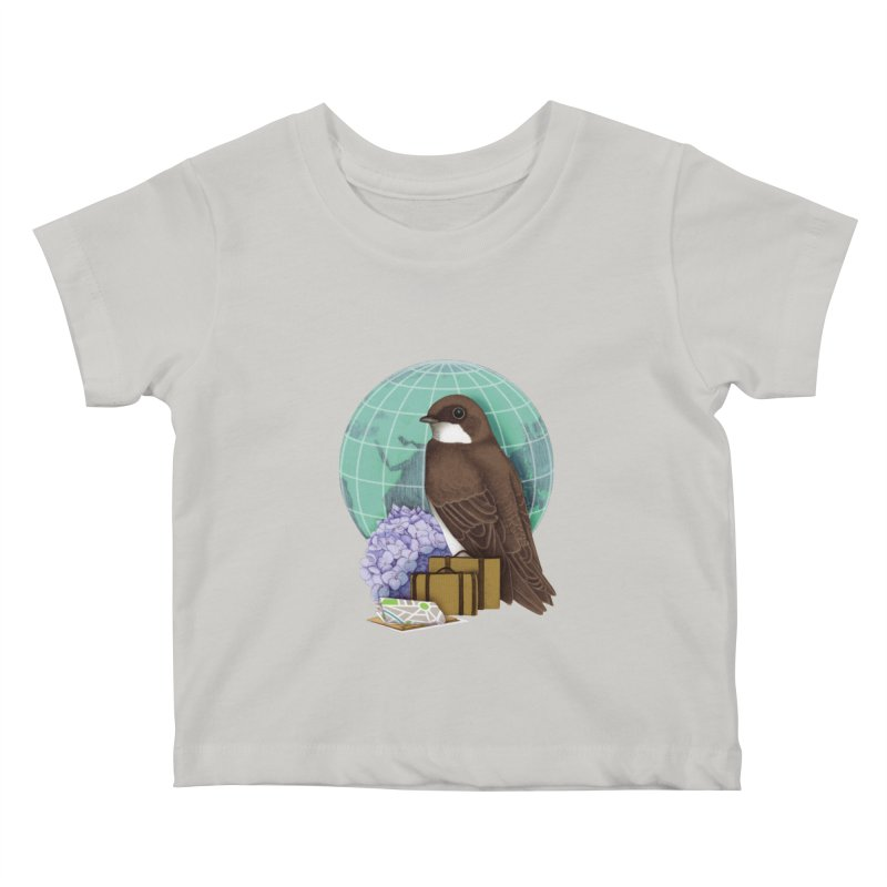 Little World Traveler Kids Baby T-Shirt by Kris Efe's Artist Shop