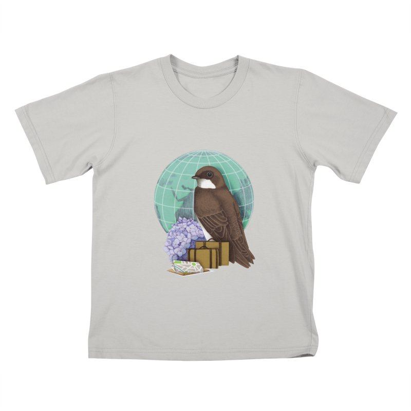 Little World Traveler Kids T-shirt by Kris Efe's Artist Shop