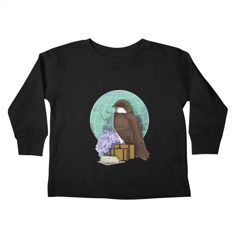 Little World Traveler Kids Toddler Longsleeve T-Shirt by Kris Efe's Artist Shop