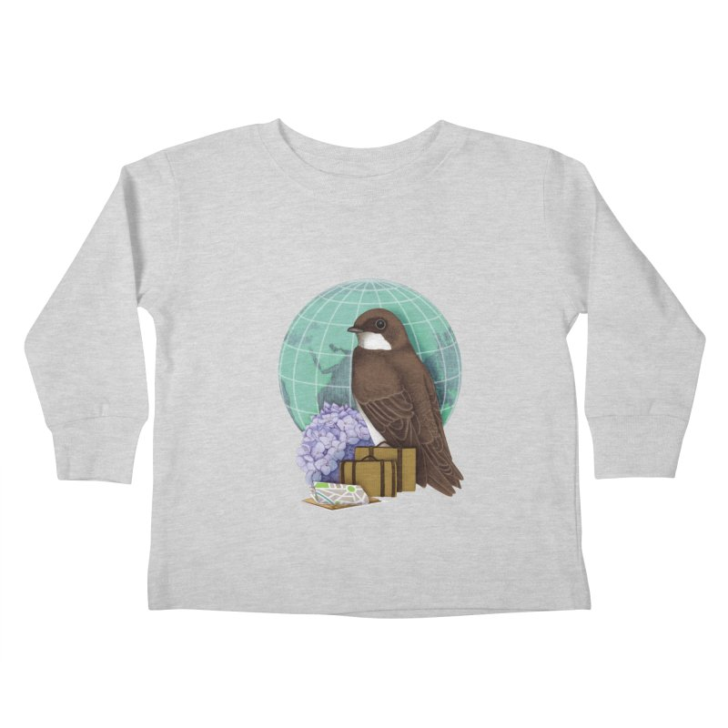 Little World Traveler Kids Toddler Longsleeve T-Shirt by Kris Efe's Artist Shop