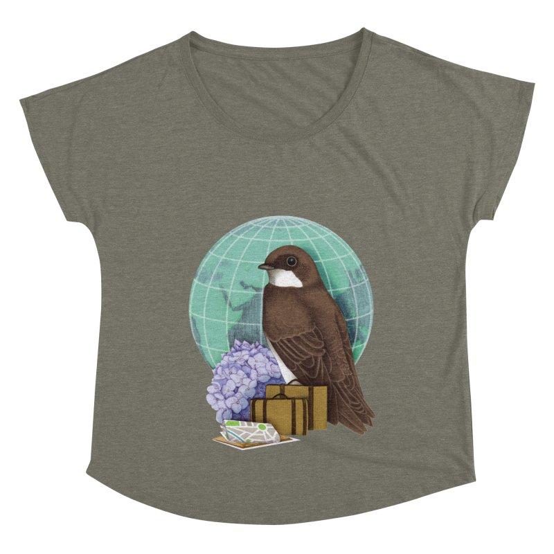 Little World Traveler Women's Dolman Scoop Neck by Kris Efe's Artist Shop