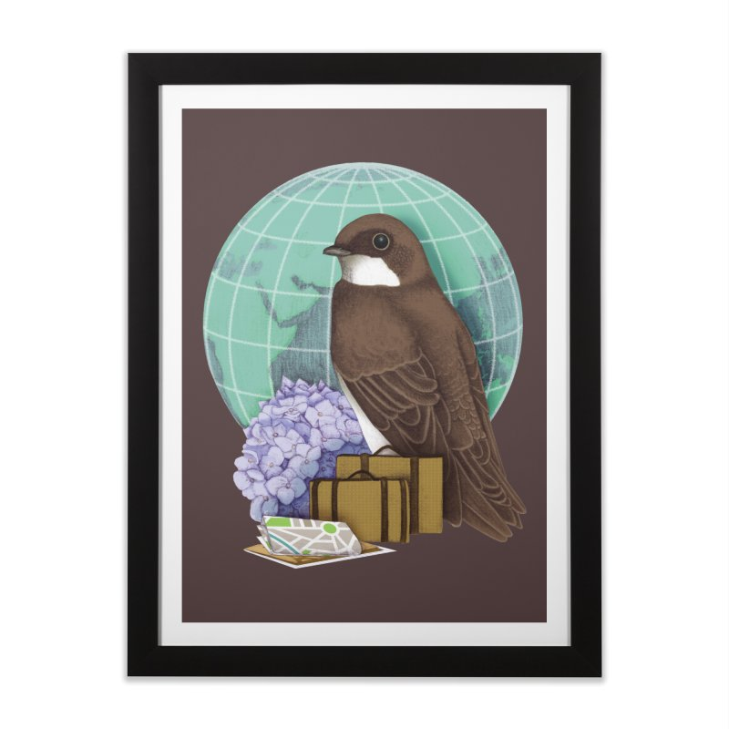 Little World Traveler Home Framed Fine Art Print by Kris Efe's Artist Shop