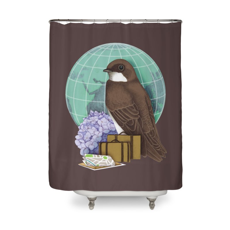 Little World Traveler Home Shower Curtain by Kris Efe's Artist Shop