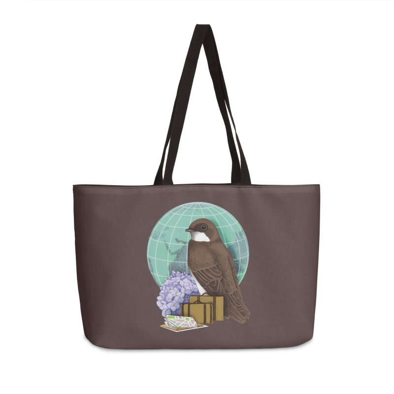 Little World Traveler Accessories Weekender Bag Bag by Kris Efe's Artist Shop