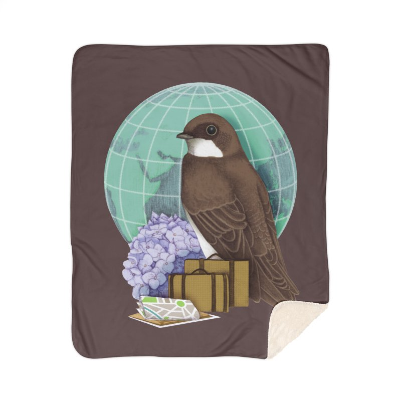 Little World Traveler Home Sherpa Blanket Blanket by Kris Efe's Artist Shop