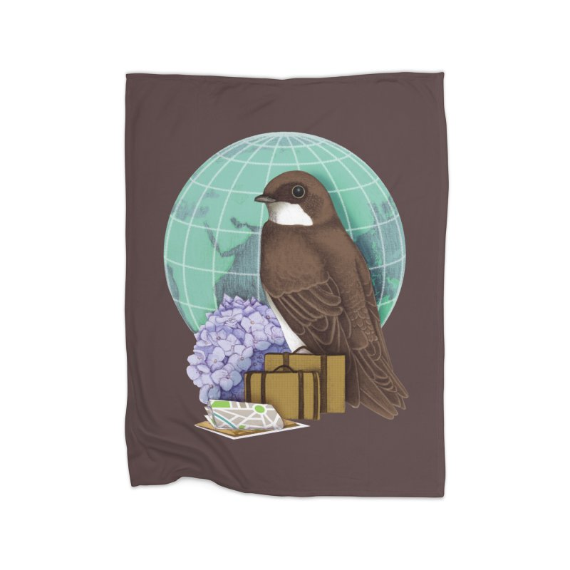 Little World Traveler Home Fleece Blanket Blanket by Kris Efe's Artist Shop