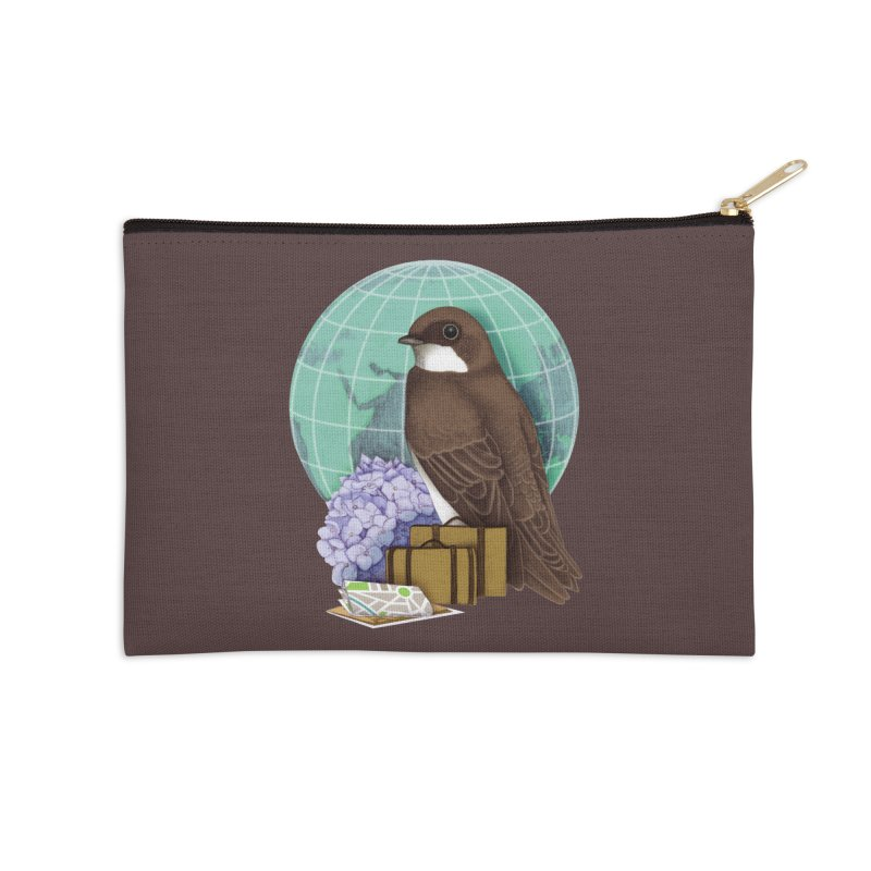 Little World Traveler Accessories Zip Pouch by Kris Efe's Artist Shop