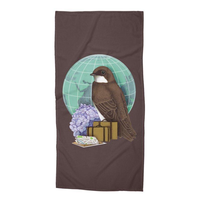 Little World Traveler Accessories Beach Towel by Kris Efe's Artist Shop