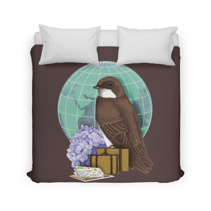 Little World Traveler Home Duvet by Kris Efe's Artist Shop
