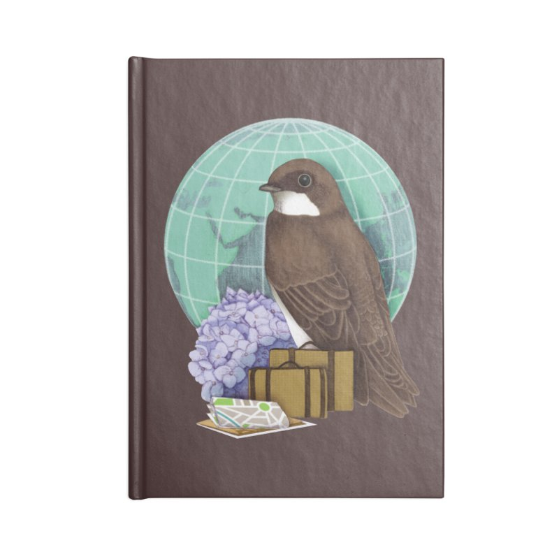 Little World Traveler Accessories Lined Journal Notebook by Kris Efe's Artist Shop