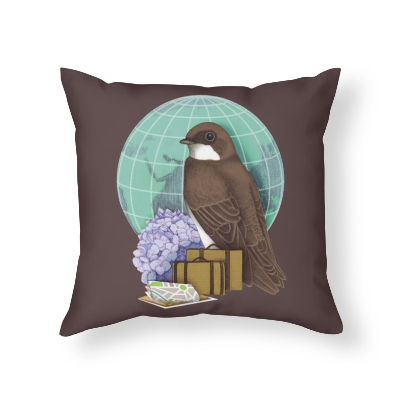 Little World Traveler Home Throw Pillow by Kris Efe's Artist Shop