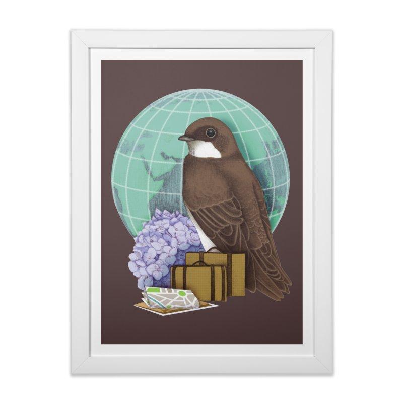 Little World Traveler Home Framed Fine Art Print by Kris Efe's Artist Shop