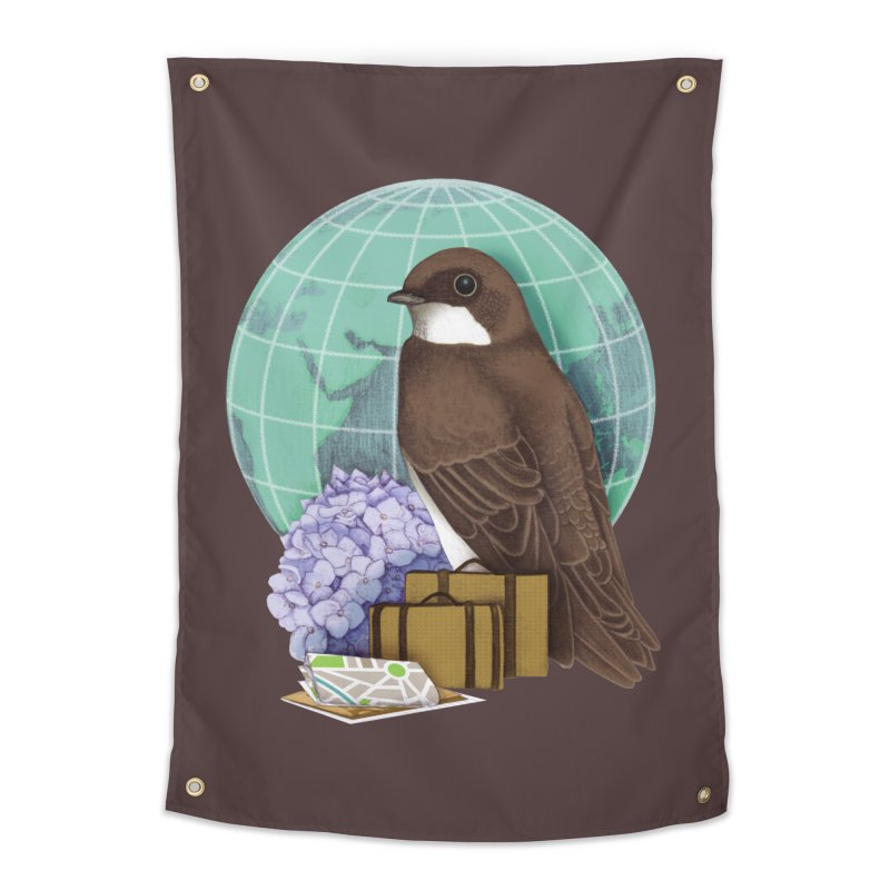 Little World Traveler Home Tapestry by Kris Efe's Artist Shop